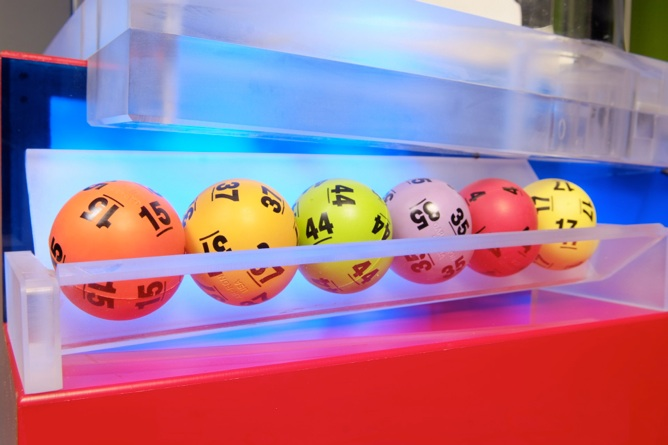 Image result for lottery ball machine